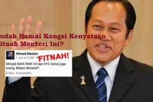 Kenyataan Fitnah Ahmad Maslan jadi Viral