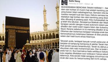 Saiful Nang dikecam netizen muat naik status aibkan tanah suci