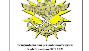 Pengambilan dan permohonan Pegawai Kadet Graduan 2017 ATM