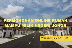 Permohonan online rumah mampu milik negeri Johor