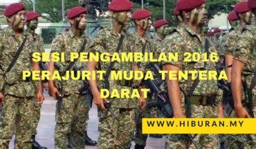 Sesi Pengambilan 2016 Perajurit Muda Tentera Darat