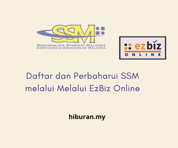 Perbaharui SSM melalui Melalui EzBiz Online