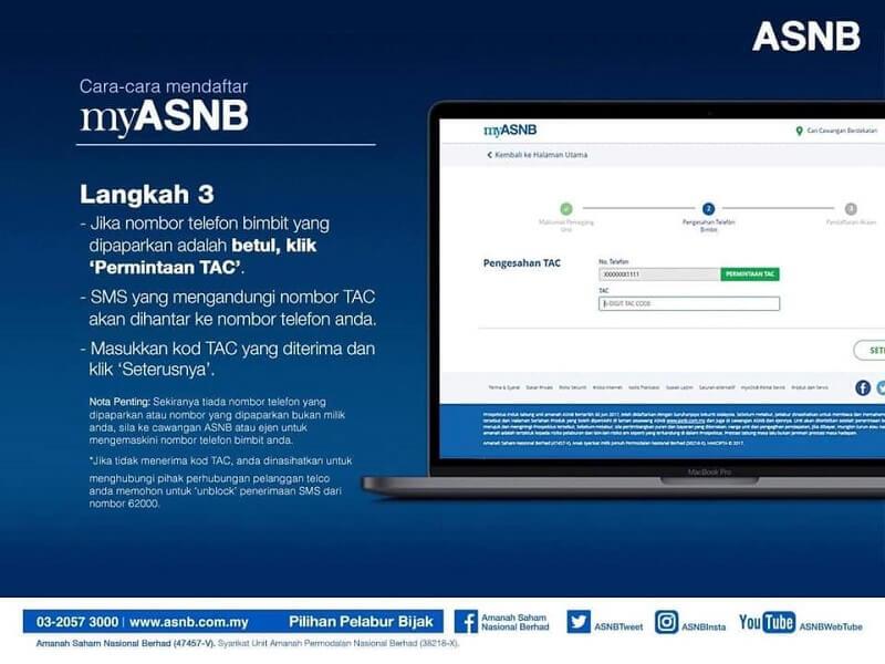 pendaftaran ASB Online step 3