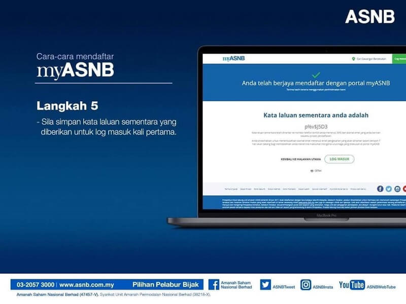 pendaftaran ASB Online step 5