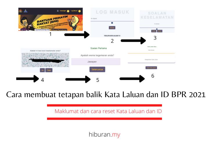 Cara membuat tetapan balik Kata Laluan dan ID BPR 2021