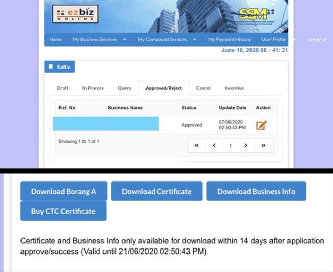 Daftar online ssm percuma 5
