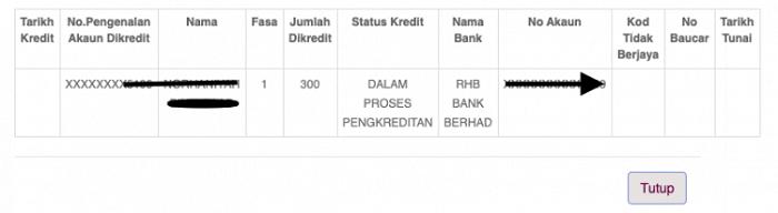 Maklumat Pembayaran BPR