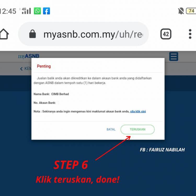 Pengeluaran Duit ASB online (6)