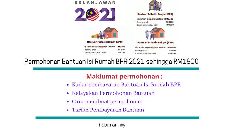 Permohonan Bantuan isi Rumah BPR 2021