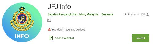 Aplikas JPJ info