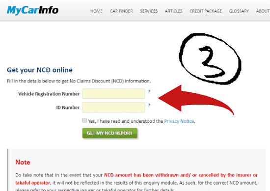 Maklumat NCD enquiry