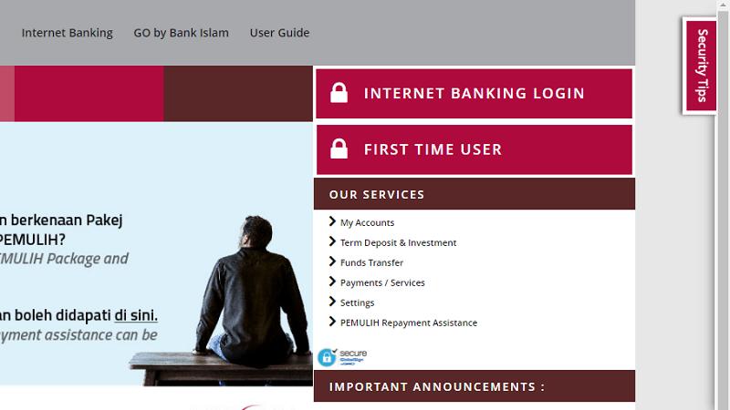 Perbankan internet bank Islam