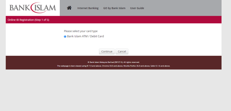 Bank islam online banking